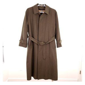 BURBERRY Vintage Men's Wool Belted Trench Coat 36R